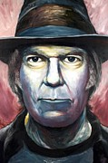 Neil Young Prints - Neil Young Harvest Print by Mike Underwood