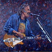 Neil Young Metal Prints - Neil Young Metal Print by John Cruse Knotts