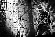 Neil Young Live In Concert Print by The  Vault - Jennifer Rondinelli Reilly