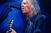 Neil Young Painting Originals - Neil Young by Merv Scoble