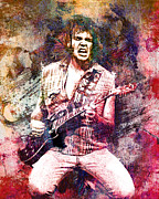 Neil Young Painting Framed Prints - Neil Young Original Painting Print Framed Print by Ryan Rabbass