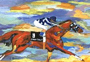 Secretariat Paintings - Neimans Secretariat by Jamie Frier