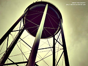 Structure Pyrography - NeirART Vintage Water Tower Shot by Donnie Hill