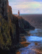 Landforms Posters - Neist Point Lighthouse Poster by Michael Pickett