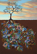 Tree Roots Painting Framed Prints - Neither Praise Nor Disgrace Framed Print by James W Johnson