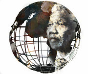 Lynda Payton Prints - Nelson Mandela - Born to Rule Print by Lynda Payton