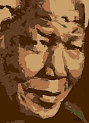 Celebrities Painting Prints - Nelson Mandela Print by Dragica  Micki Fortuna