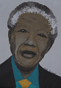 Kate Farrant Art - Nelson Mandela by Kate Farrant