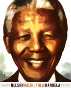 Politician Digital Art Posters - Nelson Mandela Poster by Nishanth Gopinathan