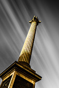 Trafalgar Square Posters - Nelsons Column London Poster by Ian Hufton