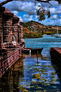 Digital Photograph Digital Art Acrylic Prints - Nelsons Dockyard Antigua Acrylic Print by Tom Prendergast