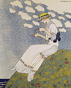 Enjoying Painting Framed Prints - Nen Dites Rien Framed Print by Georges Barbier