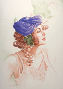 Purple Grapes Pastels - Neoclassic 2 by Kathryn Donatelli