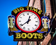 Music Time Metal Prints - Neon Boots Metal Print by Perry Webster