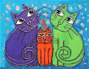 Cynthia Snyder - Neon Cat Trio #1
