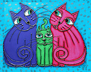 Cynthia Snyder - Neon Cat Trio #2