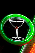 Break Dancing Framed Prints - Neon Cocktail Glass Framed Print by Matthew Bamberg