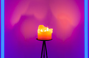 Candlelight Prints - Neon Fire Print by Semmick Photo