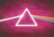 Dark Pink Prints - Neon Floyd Print by Cristophers Dream Artistry