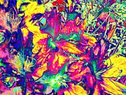 Neon Garden-neon Series Print by Rhonda Lee