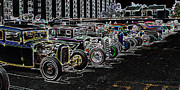 1949 Merc Prints - Neon Hot Rod Row  Print by Steve McKinzie