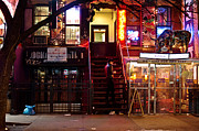 East Village Framed Prints - Neon Lights - New York City at Night Framed Print by Vivienne Gucwa