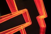 Cafe Wall Illusion Posters - Neon Maze Poster by Ric Bascobert
