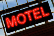 Neon Motel Sign Print by Mike McGlothlen