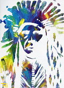 Indian Ink Mixed Media - Neon Native by Tori Tunget