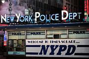 Nypd Prints - Neon PD Print by JC Findley
