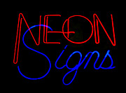 Kelly Awad - Neon Signs in Black
