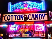 Cotton Candy Prints - Neon sweetness Print by Olivier Calas