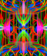 Sounds Digital Art - Neon Tubular by Virginia Fred