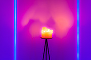 Candlelight Prints - Neon vs Candle Print by Semmick Photo