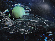 Planet Paintings - Neptune Nappin by Mike Cicirelli
