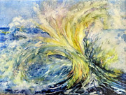 Neptune Painting Prints - Neptunes Gold Print by Beverly Berwick