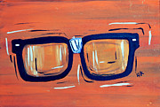 Nerd Painting Framed Prints - Nerd Glasses  Framed Print by Ryno Worm  Tattoos
