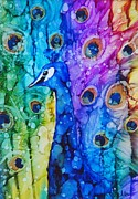 Alcohol Ink Prints - Nereus Print by Karen Walker