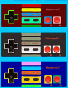 Control Painting Posters - NES Controller pop Poster by Paul Van Scott