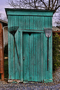 Antique Outhouse Framed Prints - Nessy the Outhouse Framed Print by Lee Dos Santos