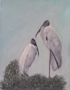 Stork Painting Framed Prints - Nesting Time Framed Print by Patty Weeks
