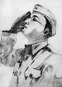 Independence Drawings Prints - Netaji The Forgotten Hero Print by Gautam Modi