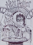 Parody Drawings - Netti Potter by Danica Wixom
