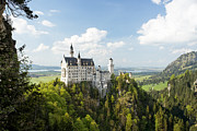 Mansion Posters - Neuschwanstein Castle Poster by Francesco Emanuele Carucci