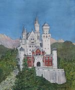 Neuschwanstein Castle Paintings - Neuschwanstein Castle by Sharon Farber