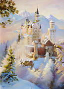 Neuschwanstein Castle Paintings - Neuschwanstein by Roman Romanov
