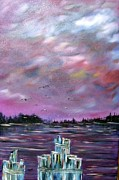Walking Birds Originals - Neuse River Gulls by Janice Rae Pariza