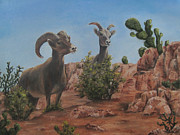 Roseann Gilmore Art - Nevada Big Horns by Roseann Gilmore