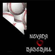 Champion Digital Art - Nevada Loves Baseball  by Andee Photography