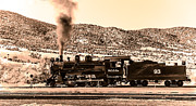 Haybales Photo Metal Prints - Nevada Northern Railway Metal Print by Robert Bales